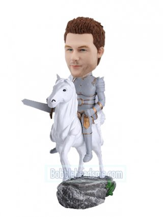 Custom Bobble Head Knight On A Horse