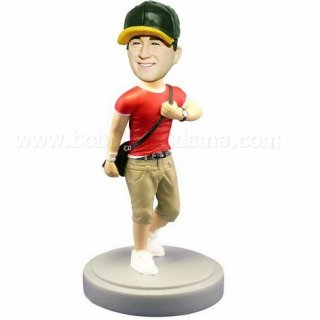 School Boy With Satchel Customized Bobbleheads