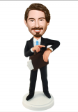 Businessman Bobbleheads Man With Briefcase