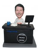 Custom bobble head doll Male At A Office Desk 1