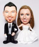 Traditional Wedding Pose Customized Couple Bobbleheads