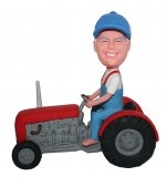 Tractor Riding On Road Custom bobblehead doll 2