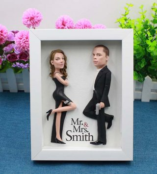 Use your custom photo personalized photo 8-inch Double Doll Agents couple