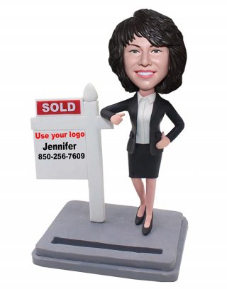 Custom SOLD Bobbleheads Business Card Holder Bobblehead