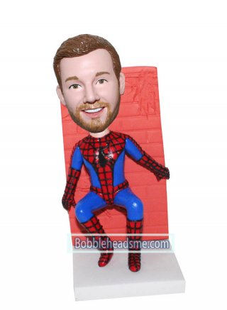 Customized Fiction Bobblehead Spiderman Carrying A Wall