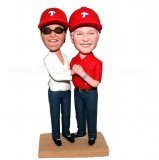 Golf Couple Holding Hands Custom Bobbleheads