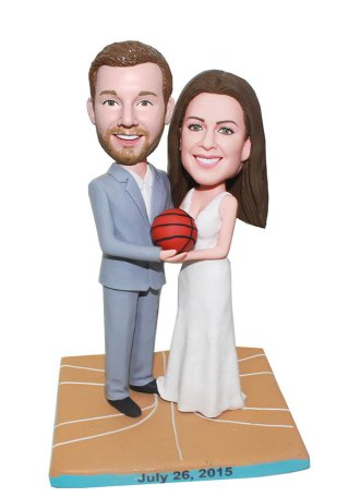 Basketball Customized couple bobblehe Doll