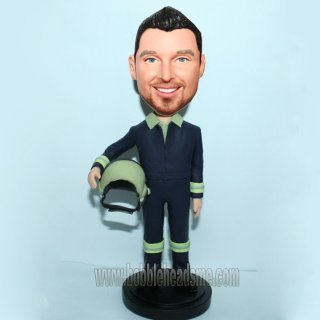 Custom Flight Pilot In Uniform Bobblehead Doll