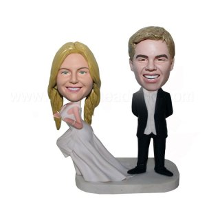 Runaways Bride Wedding Bobbleheads of Couple