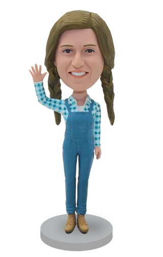Make Your Own Denim Overalls Bobble Heads