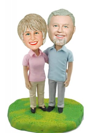 Custome Bobble Heads Father And Mother Anniversary Gifts