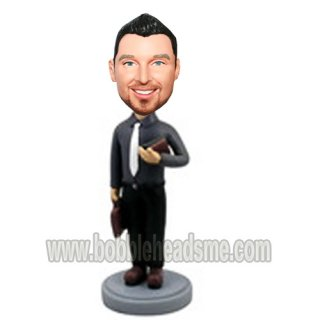 Personalized Business With Brifecase and Portfolio Bobbleheads Doll