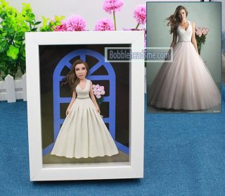 Fully customized single doll with frame doll 9-inch bobblehead me