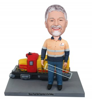 Custom Bobble Head Locomotive