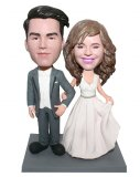 Personalized Wedding Bobbleheads Cake Toppers