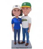 Personalized Couple Bobbleheads From Photo