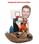 NBA bobble head Basketball Player Playing At the Basketball Court Doll 2