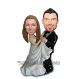 Bride And Groom Dance Waltz of Love Custom Bobble head dolls