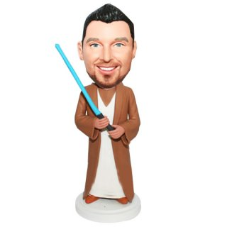 Custom Star Wars Jedi Knight Blue Sword Custom Bobbleheads