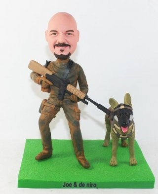 Custom Bobblehead Special Forces And Police Dogs