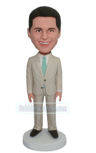 Man In Suit Bobble Head Personalized Figurines