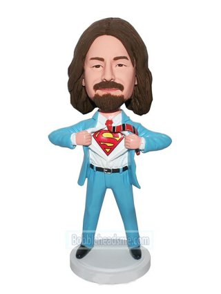 Customized Superman Bobblehead Doll Superman Open Shirt For Logo
