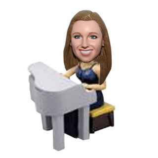 Female Piano Player Action Figurine