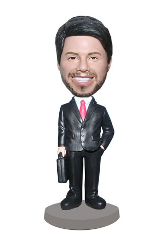 Custom Bobblehead Wholesale In Suit With A Briefcase