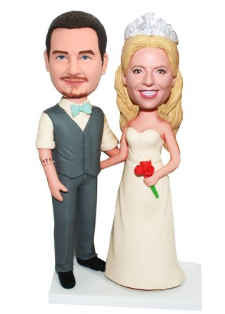 Custom Bobblehead Wedding Toppers