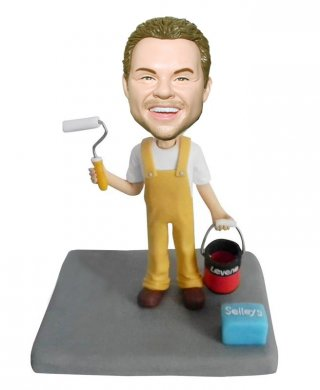 Painter Personalized Bobble Head