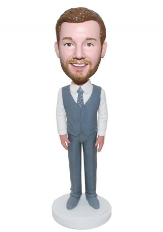 Gentlman Male Custom BobbleHead Doll