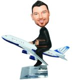 Custom Bobblehead Pilot Airplane