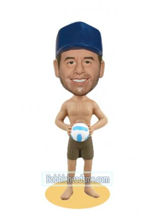 Custom Bobbleheads-Enjoy The Beach Volleyball Game