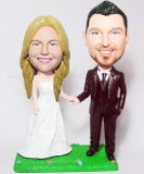 Lawn Bride And Groom Hand In Hand Wedding BobbleHead