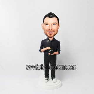 Male With Zoom Lens Camera Custom man Bobbleheads