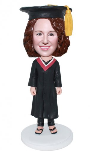 Custom Graduates Bobble Head graduation Figurines