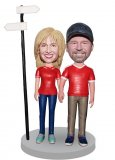 Custom Bobblehead Dolls Couple Free Shipping