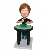 Poker Player Female Customized Poker Bobble Head Doll