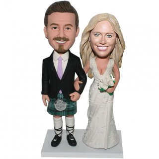 Personalized Wedding Bobblehead The Scotland Dress Groom