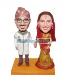 Customized Exotic Bobblehead Couple In Traditional Indian Weddin