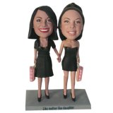 Custom Bobbleheads Sexy Shopping Ladies Hand In Hand