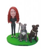 Custom People & Two Pets Bobbleheads Of Yourself