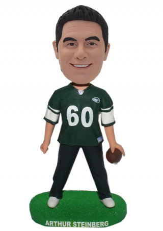 Legs Apart On The Gress Grass Football Male Bobble Head Doll