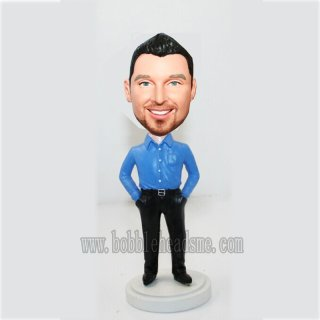 Hands On Pockets No Jacket Business Bobbleheads Doll