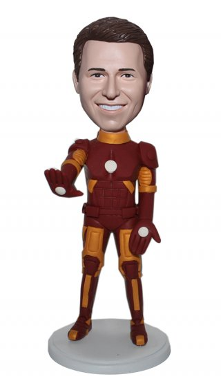 Customized Iron Man Bobble Head Superhero Figurine