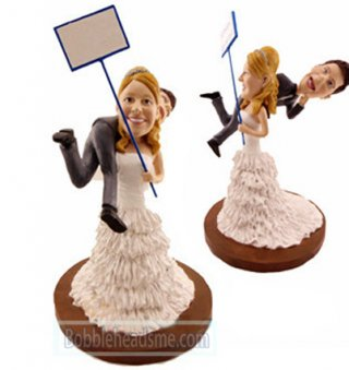 Wedding Cake Toper Custom Bobblehead Doll