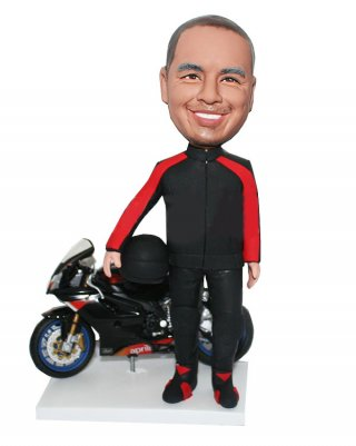 Custom Bobblehead Race Car Figurines Bluluhead