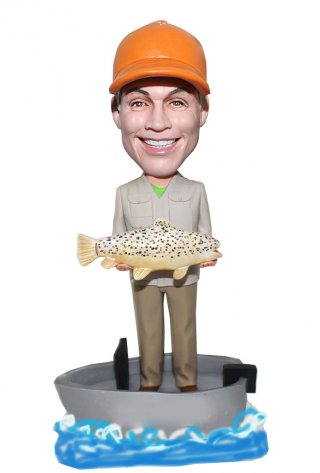 Custom Fishing Man Bobbleheads That Look Like You