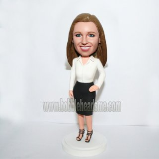 High Hell Shoes Office Female Bobblehead Doll