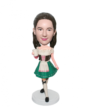 Custom Bobblehead Doll Female In A Short Victorian Dress